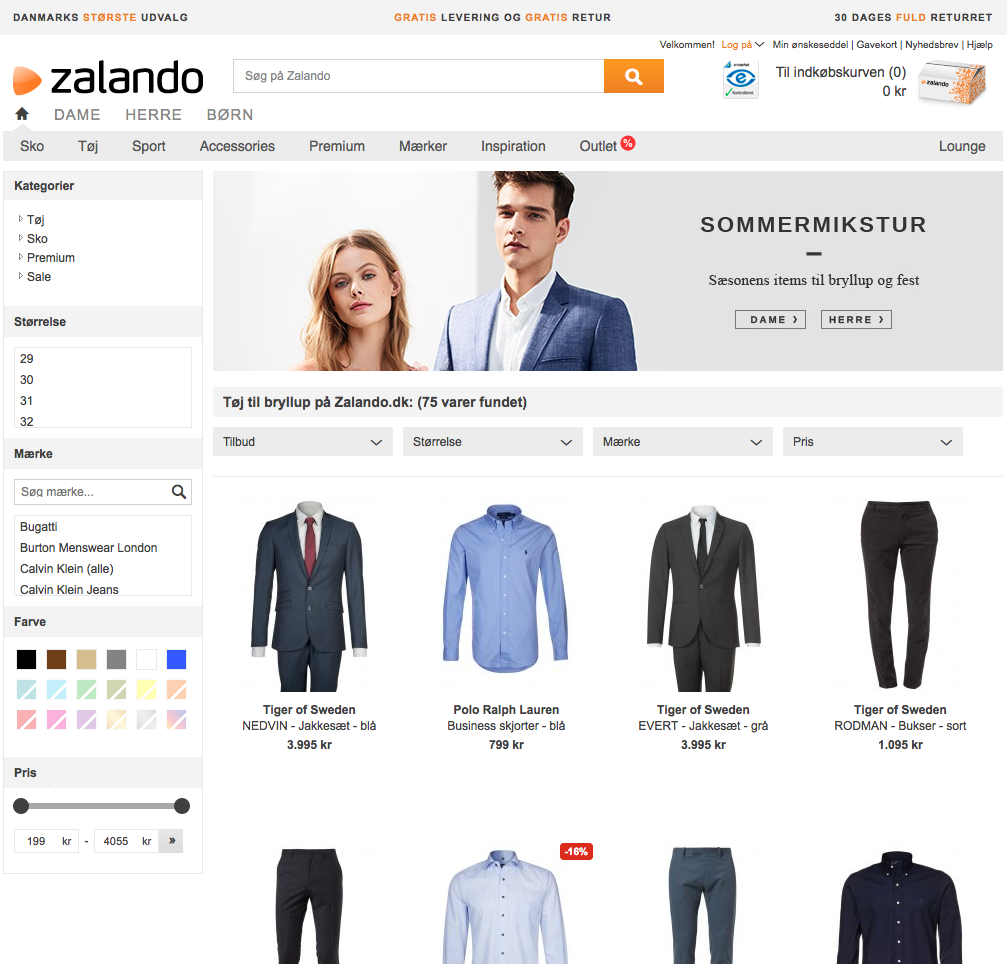 zalando screenshoot